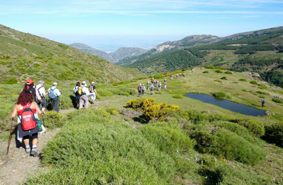 Private hiking group by Andalusia Sierra