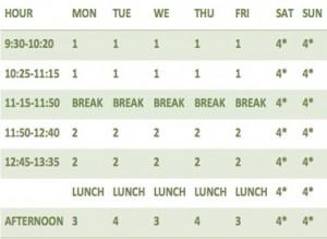 week-schedule-spanish-hiking-sierraysol
