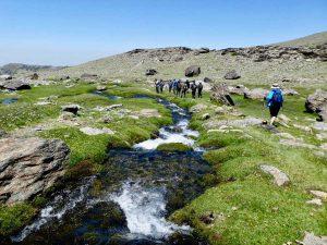 Hike in The Sierra Nevada National Park lakes area @ Puerta de Elvira
